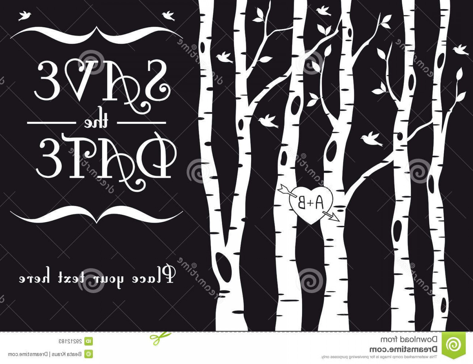 1560x1200 Stock Photos Wedding Invitation Birch Trees Vector Image Sohadacouri