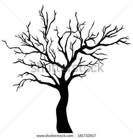 450x470 Clipart Leafless Tree Wedding
