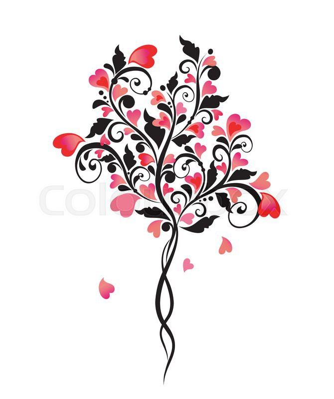 670x800 Decorative Wedding Tree Stock Vector Colourbox