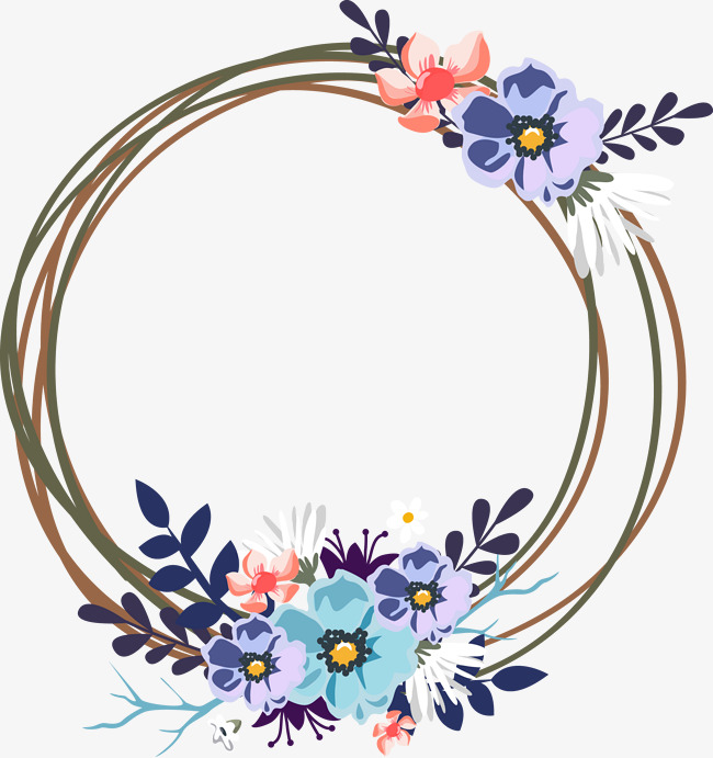 650x691 Vector Wedding Decorative Garland, Wreath, Decoration, Wedding