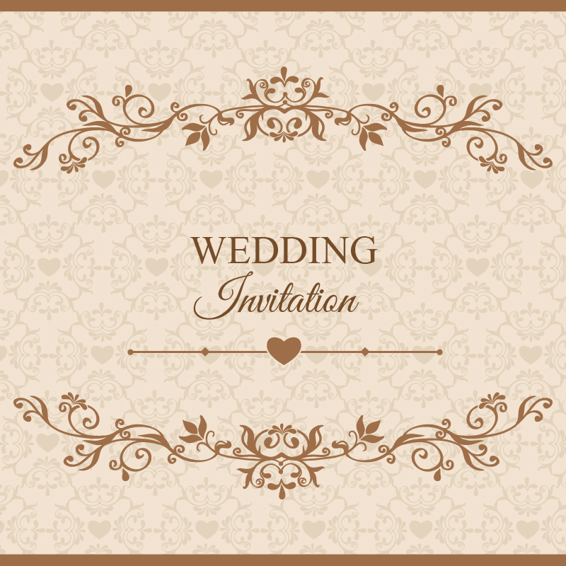 800x800 Wedding Vector Illustration