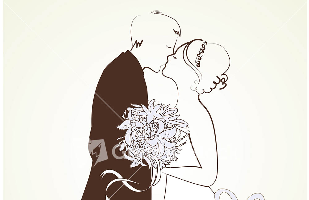 1000x648 Bride And Groom Wedding Free Vector Image