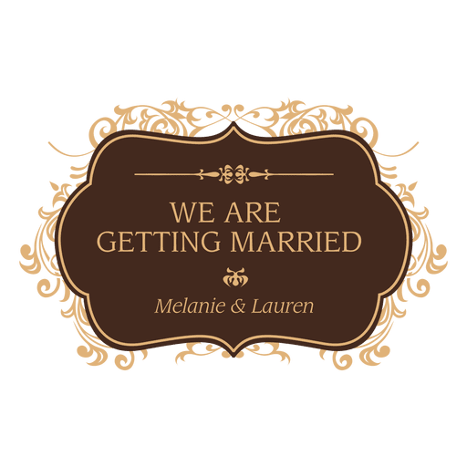 512x512 Getting Married Wedding Badge Design