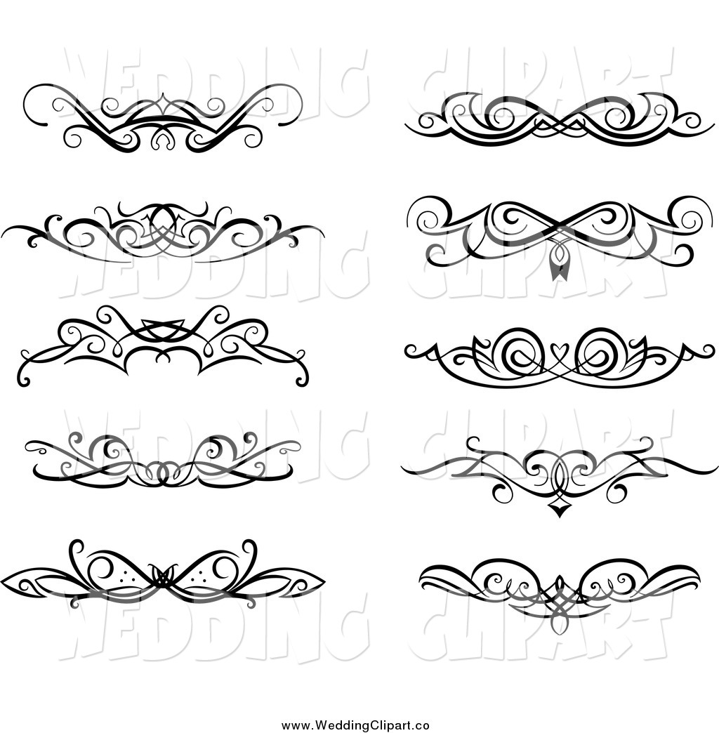1024x1044 Vector Marriage Clipart Of Black And White Swirl Wedding Design