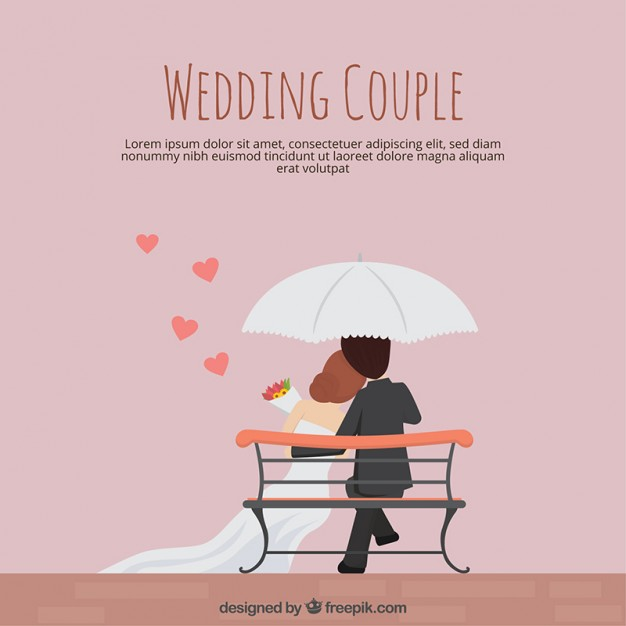 626x626 Wedding Couple In Flat Design Vector Free Download