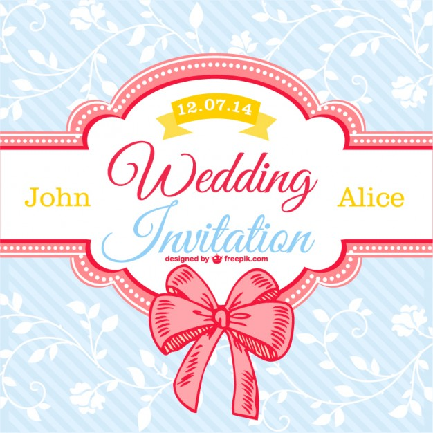 626x626 Decorative Floral Wedding Card Vector Free Download