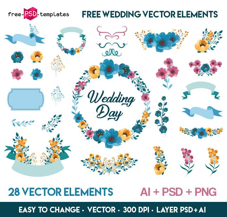 750x718 Free Wedding Vector Elements Free Psd Templates