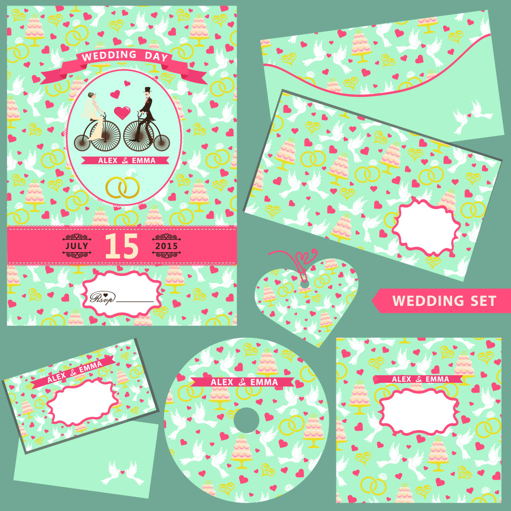 1024x1024 Lovely Wedding Vector Free Download Ai Files