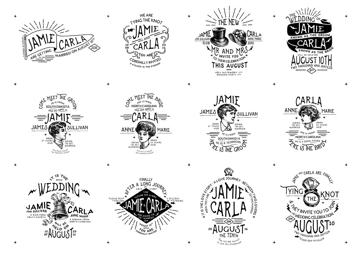 1200x849 Vintage Wedding Badges And Stickers Vector Free Download