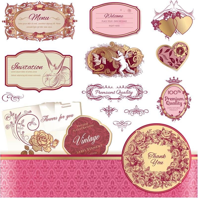800x800 Vintage Wedding Labels Vector 2 Vector Graphics Blog