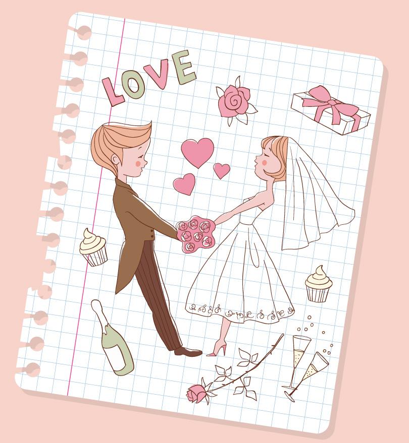 810x879 Wedding Vector Free Download