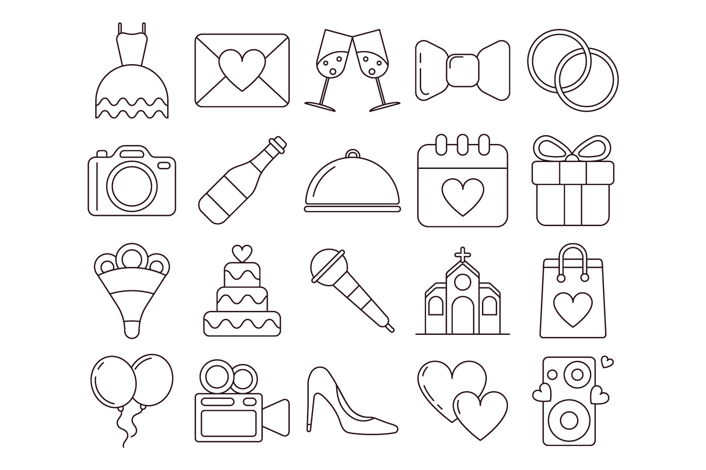 1440x960 Wedding Vector Free Icon Set