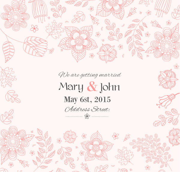 600x573 Wedding Invitation Background Designs Hand Painted Floral Wedding
