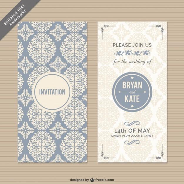 626x626 Elegant Wedding Invitation Vectors Download Free Vector Art