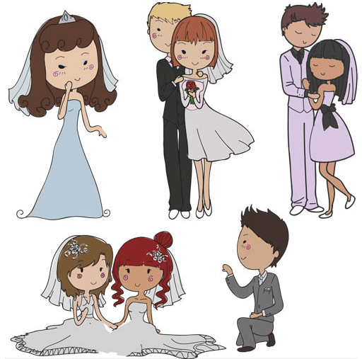 512x507 Wedding Couples Vector Graphic Ai Format Free Vector Download