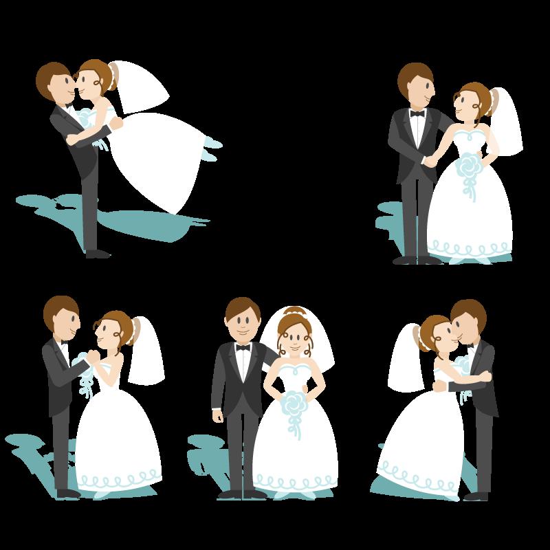 800x800 Cartoon Marriage Wedding