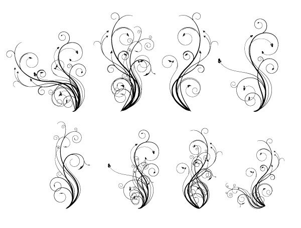 600x455 Free Vintage Graphics Flourish Vector Ornaments