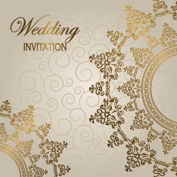 600x600 Gorgeous European Style Wedding Invitation Card Vector Graphics