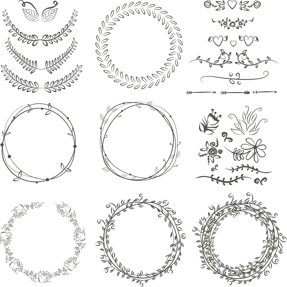 998x1000 Laurel Wreath Wedding Invitation Drawing Scalable Vector Graphics