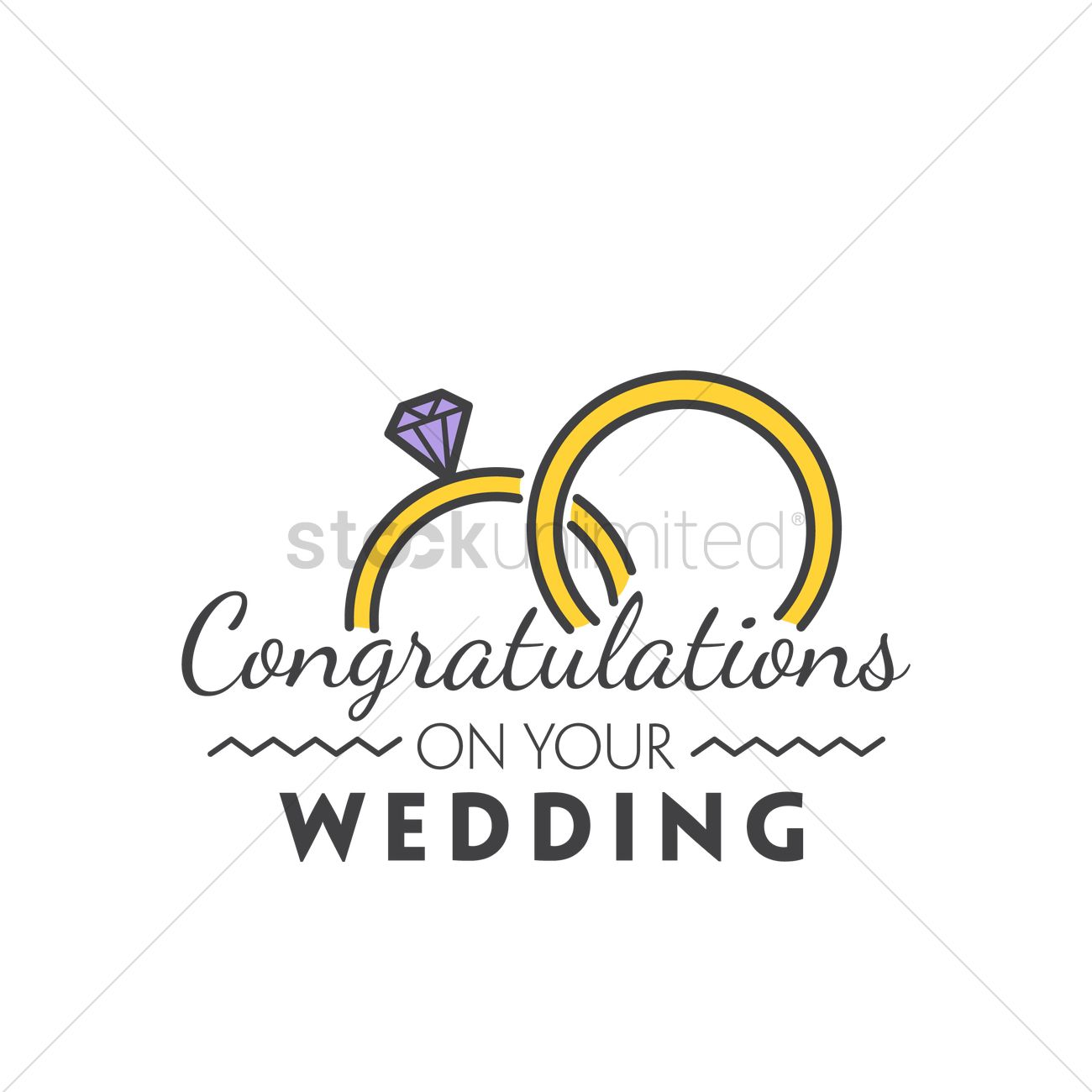 1300x1300 Congratulations On Your Wedding Vector Image