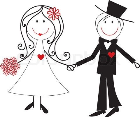 480x400 Couple Clipart Wedding Vector