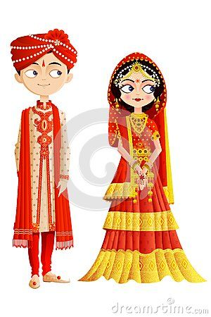 300x450 Indian Bride And Groom Clipart Indian