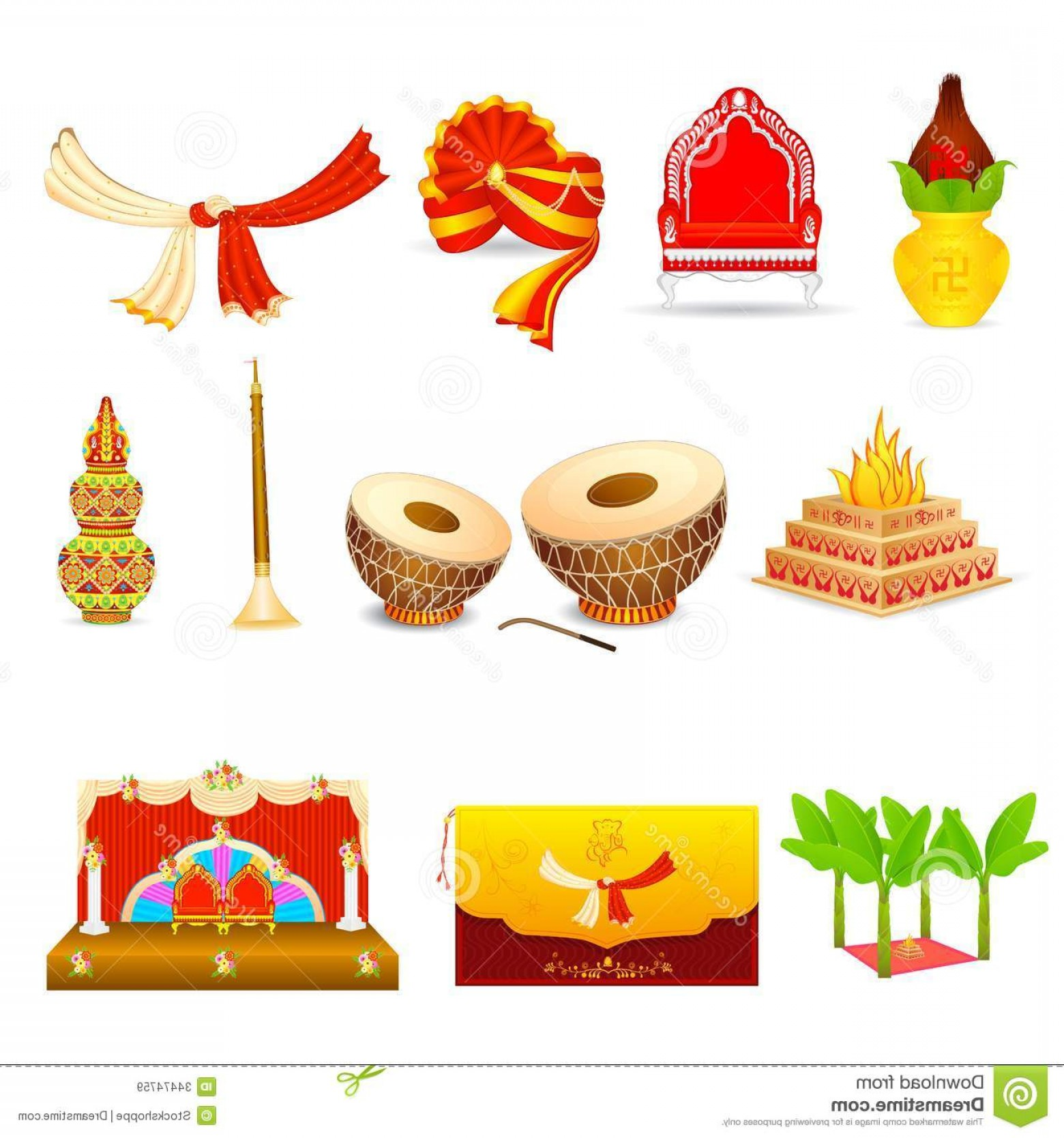 1560x1668 Royalty Free Stock Images Indian Wedding Vector Illustration