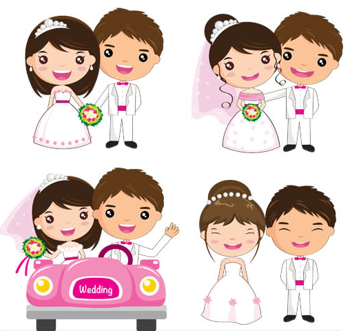508x480 Wedding Cartoon Couples Vector Ai Format Free Vector Download