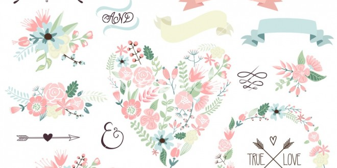 660x330 Wedding Flowers Vector Images