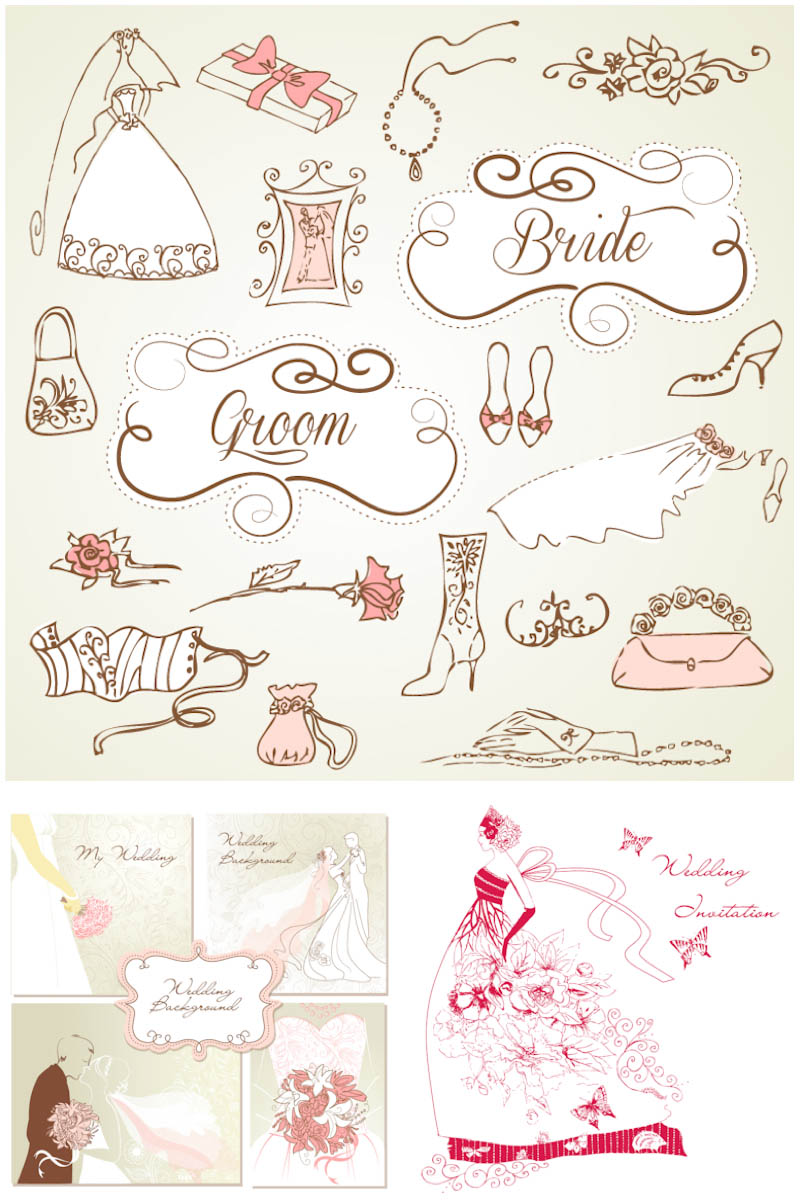 800x1200 Bride Clipart Vector Free Download