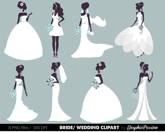 570x459 Bride Clipart Wedding Veil
