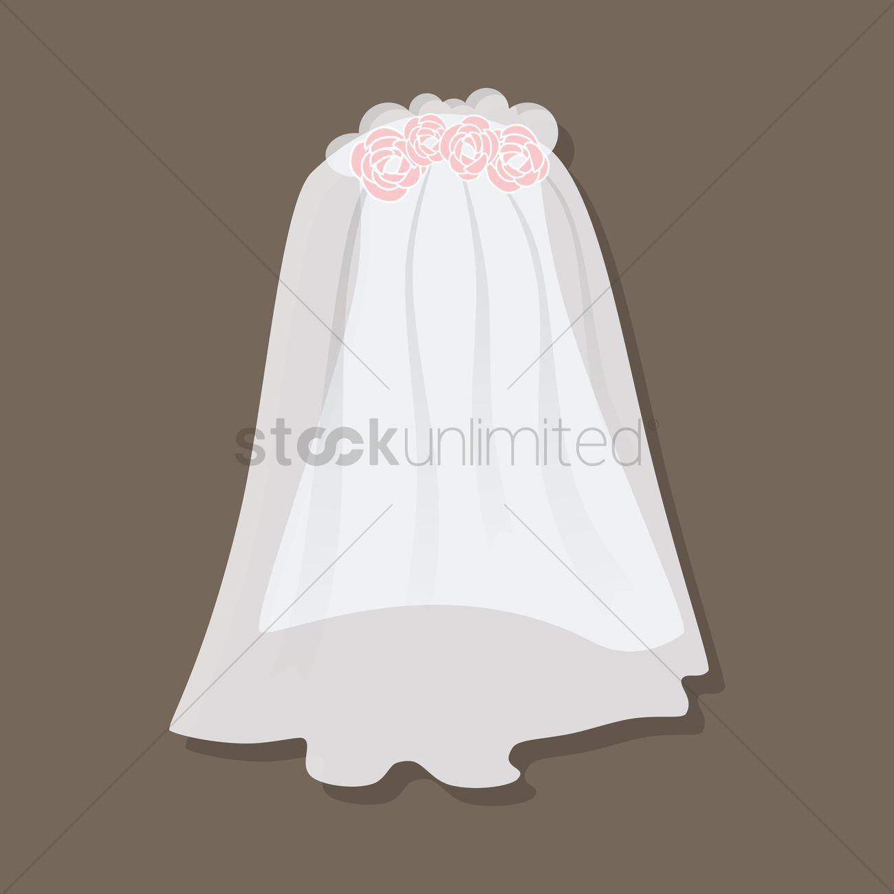 1300x1300 Bride Veil Vector Image