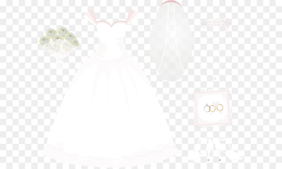 900x540 Download Vector Hand Painted Wedding Veil And Wedding Rings