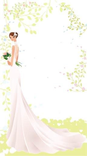 287x510 Beautiful Wedding Veil Bride Vector Material 22 Free Download Web
