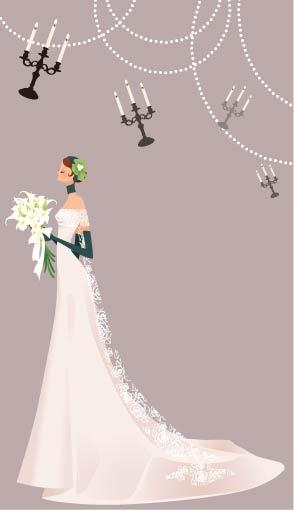 294x510 Beautiful Wedding Veil Bride Vector Material 39 Free Download Web