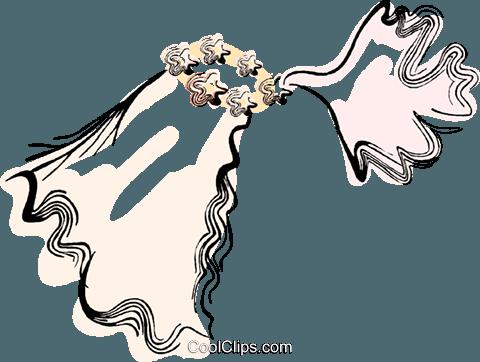 480x362 Bridal Veil Royalty Free Vector Clip Art Illustration Vc044419
