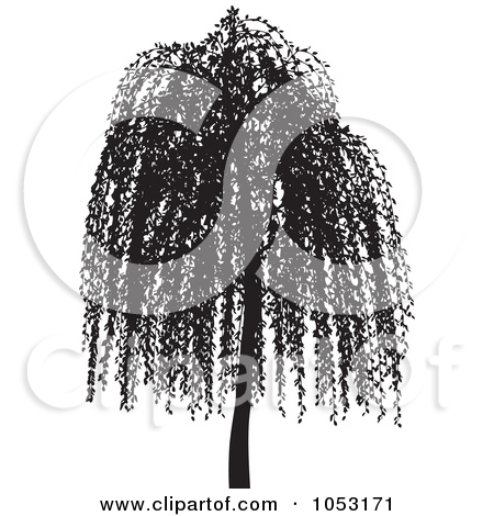 450x470 Willow Tree Silhouette Clipart