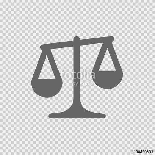 500x500 Law Symbol Vector Icon. Weight Icon On Transparent Background
