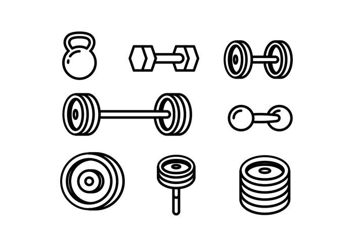 700x490 Lift Weight Line Icon Vector