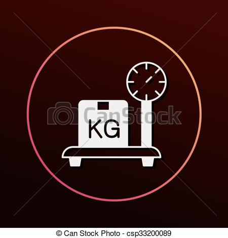 450x470 Logistics Freight Weight Icon Vector