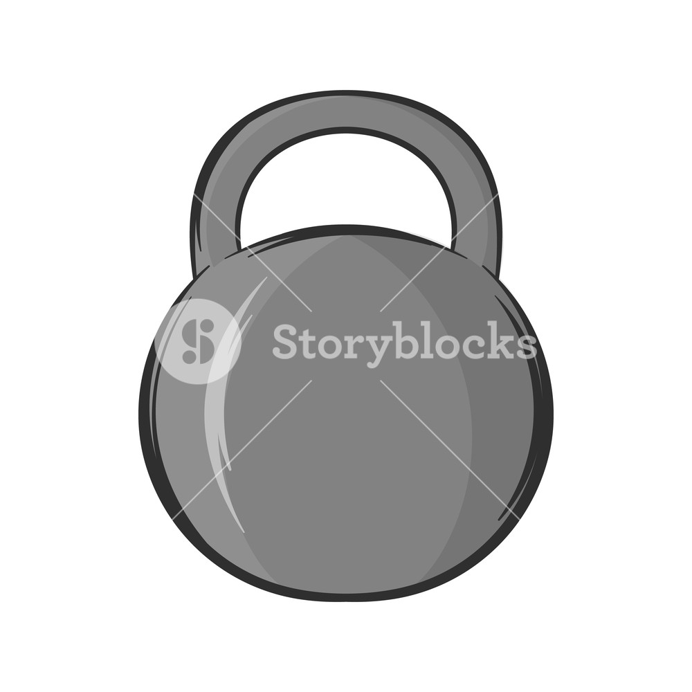 1000x1000 Weight Icon In Black Monochrome Style Isolated On White Background