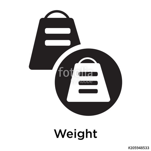 500x500 Weight Icon Vector Sign And Symbol Isolated On White Background