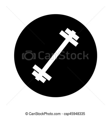 450x470 Weight Lifting Equipment Icon Vector Illustration Design.