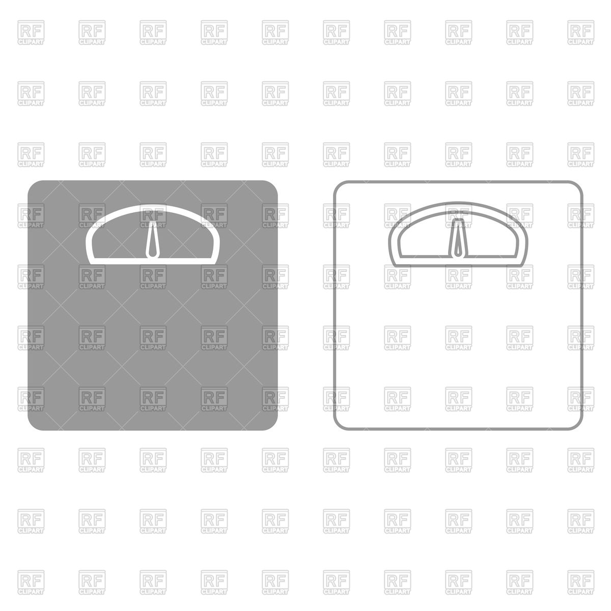 1200x1200 Weight Scale Grey Set Icon Vector Image Vector Artwork Of Icons