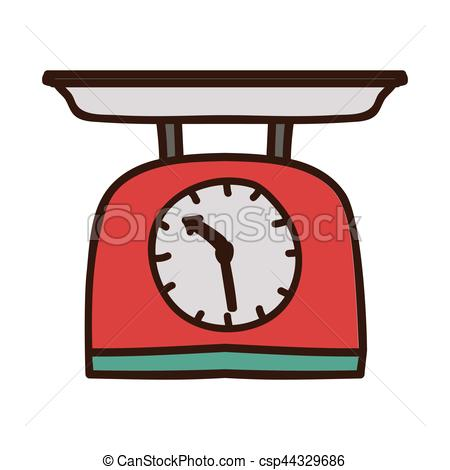 450x470 Colorful Kitchen Weight Scale Icon Vector Illustration.