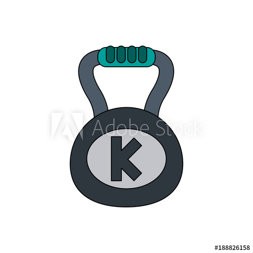 500x500 Kettlebell Gym Weight Icon Vector Illustration Graphic Design