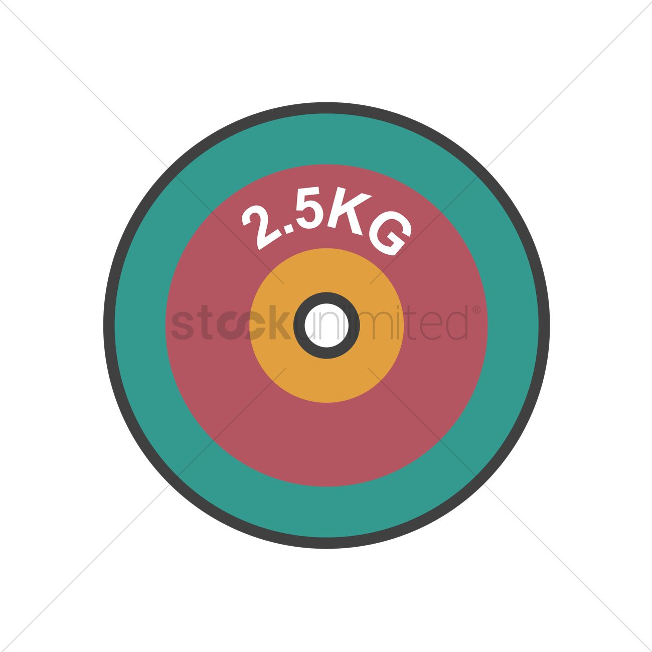 1300x1300 Free Weight Plate Vector Image