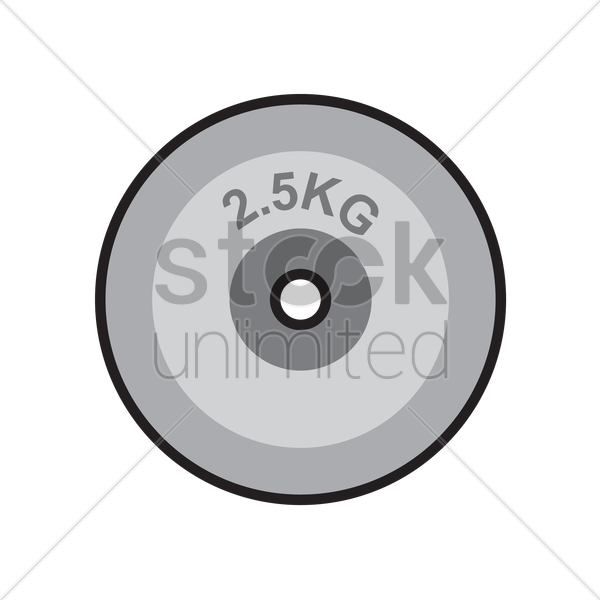 600x600 Free Weight Plate Vector Image