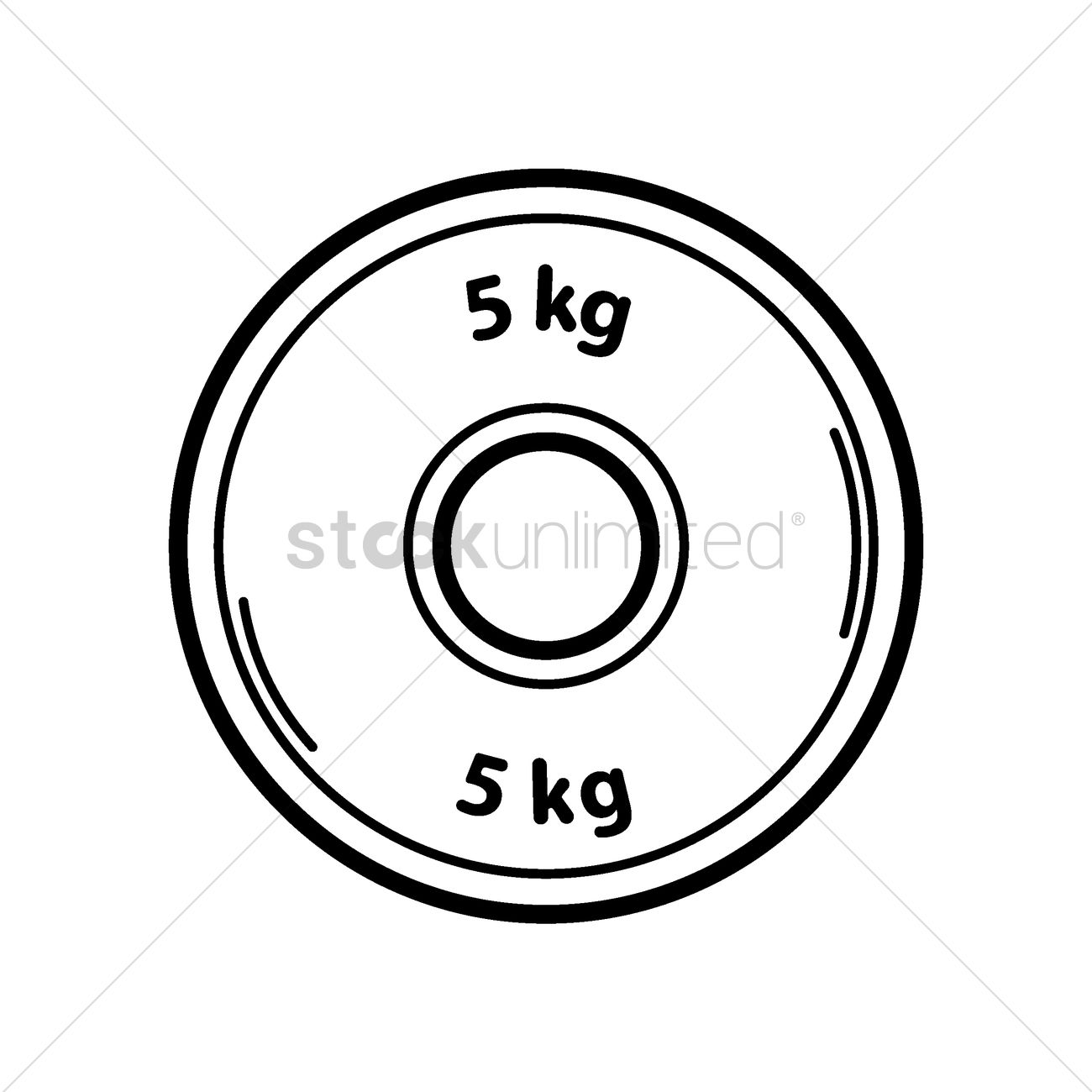 1300x1300 5kg Weight Plate Vector Image