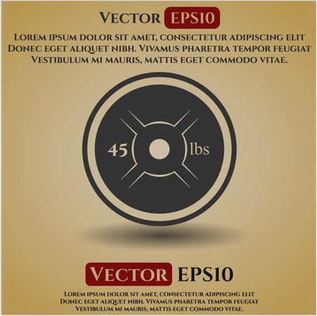 450x449 Weight Lifting Or Powerlifting Plate (45 Lbs) Vector Icon